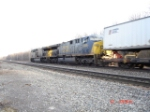 A pair of CSX AC60CW's lead an EB Intermodal Freight on the #1 Track